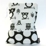 BABY by Danish - Black Owls Wet Bag